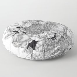 JennyMannoArt GRAPHITE DRAWING/SAGE Floor Pillow