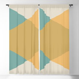Mid Century - Yellow and Blue Blackout Curtain