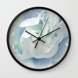 Peony in Blue White Wall Clock