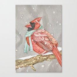 Cardinal in Blue Canvas Print