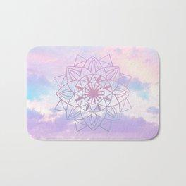 Star Mandala Unicorn Pastel Clouds #1 #decor #art #society6 Bath Mat