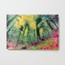 abstract misty forest painting hvhdstd Metal Print