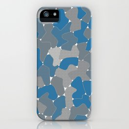 Blue Wall Etching iPhone Case