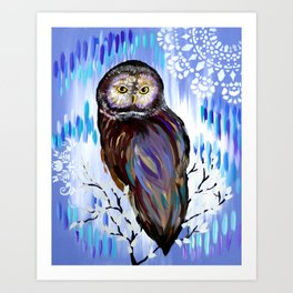 Owl Phone case Art Print