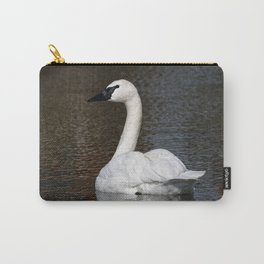 Trumpeter Swan   Wildlife Photography   Birds   Nature   Wall Art Carry-All Pouch