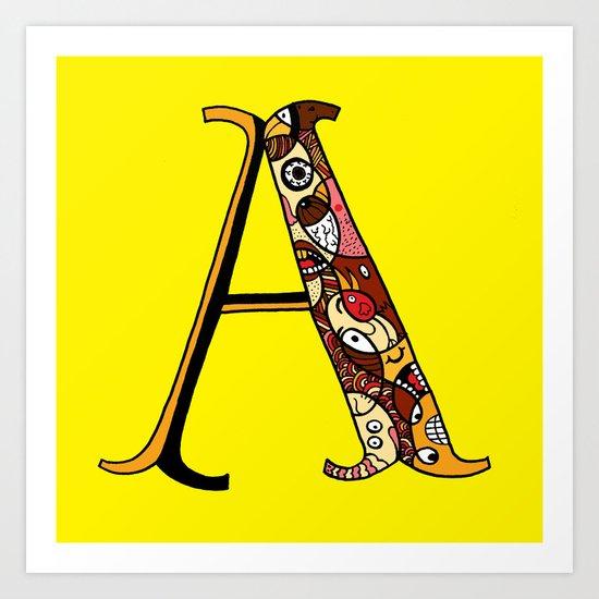 A! Art Print