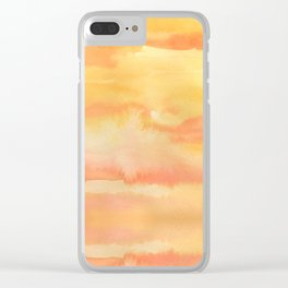 Apricot Sunset Clear iPhone Case