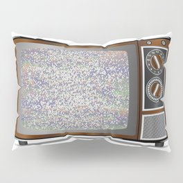 Old Television Static Pillow Sham