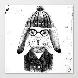 Hiphop Beanie Bunny Top Canvas Print