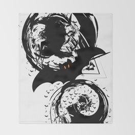 Bats ink splash Throw Blanket