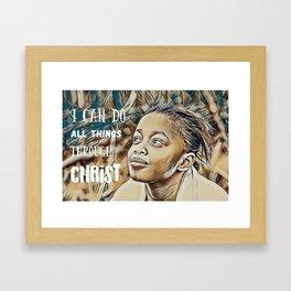 Black Girl Can Do All Things Through Christ Framed Art Print