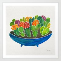 succulents Art Prints featuring Succulents by Cat Coquillette