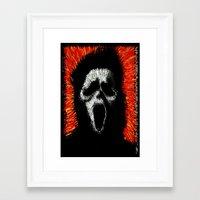 scream Framed Art Prints featuring Scream by brett66