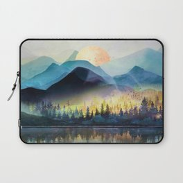 Mountain Lake Under Sunrise Laptop Sleeve