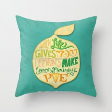 Lemon Meringue Pie Throw Pillow
