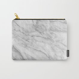 White Marble 008 Carry-All Pouch