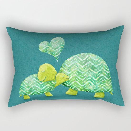 Turtle Hugs Rectangular Pillow