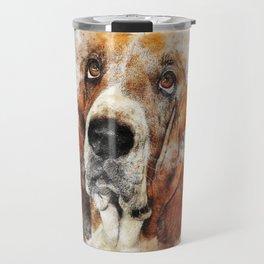 Basset Hound (Abstract Dog) Travel Mug