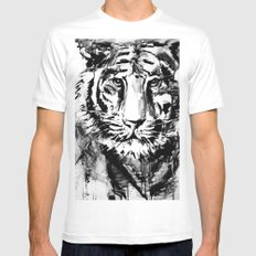 White tiger White Mens Fitted Tee MEDIUM