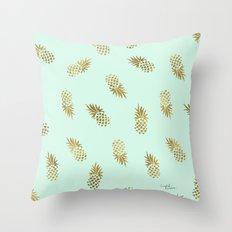 Pineapple Mint Throw Pillow