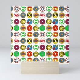Superhero Donuts Mini Art Print