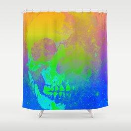 Skull/Star II Shower Curtain
