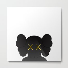KAWS - Companion Black Metal Print
