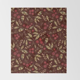 Red Currants Throw Blanket