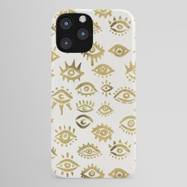 Mystic Eyes – Gold iPhone Case