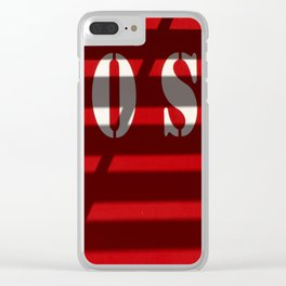 SOS door Clear iPhone Case