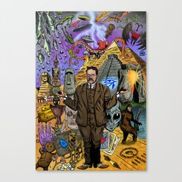 Charles Fort - Fortean Canvas Print