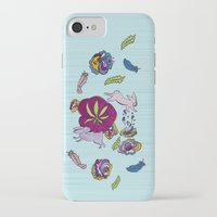 cannabis iPhone & iPod Cases featuring Cannabis Bunnies by Ri 13