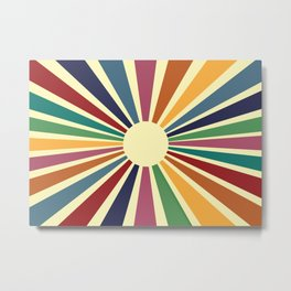Sun Retro Art II Metal Print
