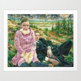 Icelandic Hill People Art Print