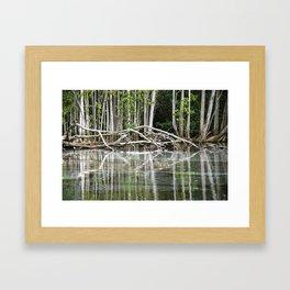 Water reflection Framed Art Print