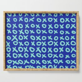 X O Blue on Blue Serving Tray