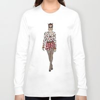 moschino Long Sleeve T-shirts featuring Moschino fashion illustration roses  by Cinnamoncafexx
