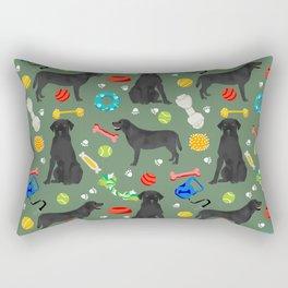 Black Lab dog toys cute dog breeds black labrador retriever gifts pet friendly Rectangular Pillow