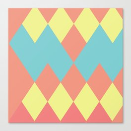 Merging summer pastels Canvas Print