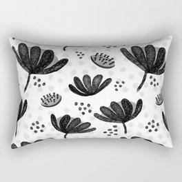 Black and White Waratahs Rectangular Pillow