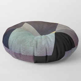 Purple Yellow Geometric Abstract Floor Pillow