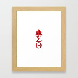 Elephant Delta Triangle Sigma Red Theta Framed Art Print
