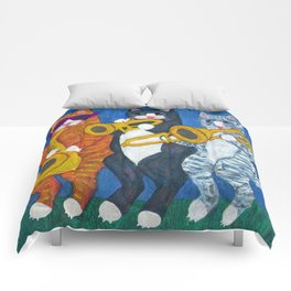 Salsa Cats Brass Section Comforters