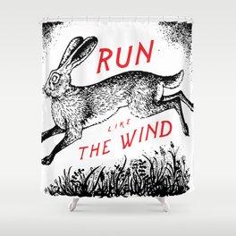 Run Like The Wind Shower Curtain