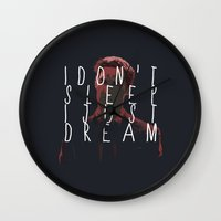 true detective Wall Clocks featuring true detective 2 by Molnár Roland