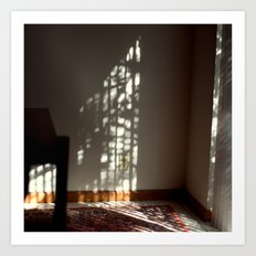 Window Light on Wall Art Print