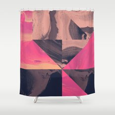 Triangular Magma Shower Curtain