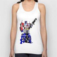 optimus prime Tank Tops featuring Optimus Prime by Ayse Deniz
