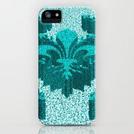 Florentine Teal Garden iPhone Case