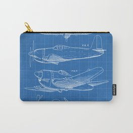 Wedberg Airplane Patent - Us Air Force Art - Blueprint Carry-All Pouch